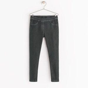 Zara Grey Denim Leggings